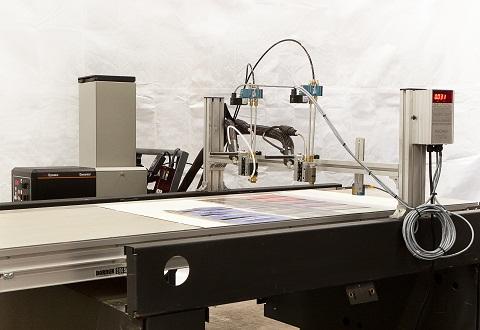 customized adhesive application system   glue machine and conveyor belt