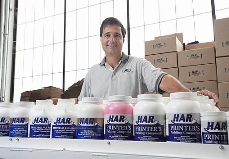 Joe Cerino in HAR Adhesive Technologies Beford Ohio manfacturing plant